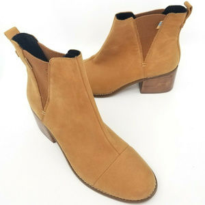 Toms Womens Brown Henna Esme Boots Slip On Shoes 9